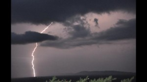 Lightning captured by viewer Brady Bunt