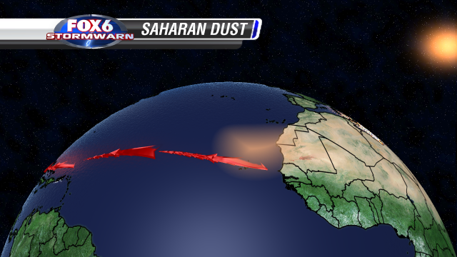 Saharan dust explainer