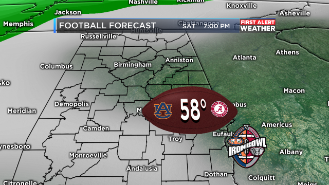 Iron bowl weather forecast now looks dry wbrc first alert weather 6 gumiabroncs Gallery