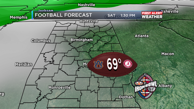 Iron bowl weather forecast now looks dry wbrc first alert weather 2 gumiabroncs Gallery