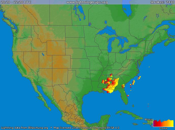Storm Analysis Pm WBRC First Alert Weather - Us lightning map