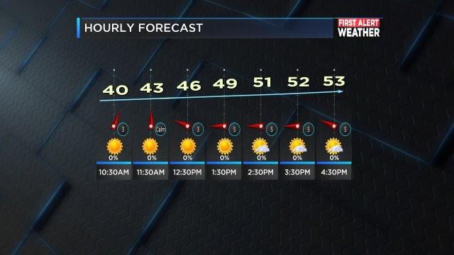 Hourly forecast